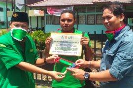GP Ansor bagikan masker dan hand sanitizer untuk Jurnalis di Kapuas Hulu