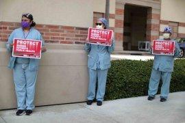 Banyak petugas kesehatan AS terinfeksi virus corona di tempat kerja