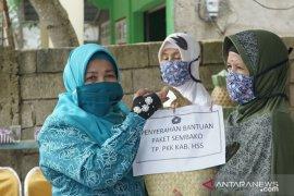 PKK HSS kembali bagikan bantuan sembako di empat kecamatan