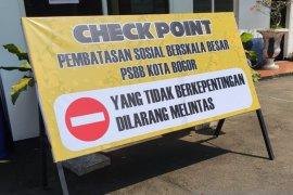 """Ada 11 titik """"check point"""" saat penerapan PSBB di Kota Bogor"""