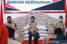 PDIP Kalsel salurkan belasan ton beras kemanusiaan