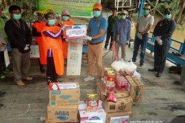 PB Senada Mahulu  bantu bahan makanan relawan COVID-19