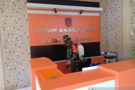 Kodim 1314/Gorontalo Utara semprot disinfektan wilayah kepulauan cegah COVID-19