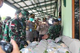Pangdam XII/Tpr lakukan pengecekan dapur umum TNI-Polri