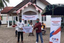 Pertamina bantu 1.050 paket sembako dan APD di Aceh