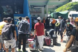 Kodim Tabanan pantau puluhan pekerja migran yang tiba di Bali