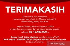 Madura United lelang kostum pemain untuk donasi penanganan COVID-19
