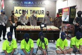 Polisi gagalkan peredaran 45 kilogram sabu-sabu Aceh Timur