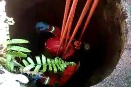 Seorang warga tewas terperosok ke dalam sumur 12 meter