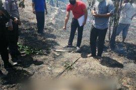 Seorang warga tewas terbakar di lahan miliknya