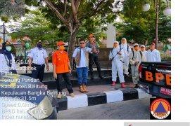 BPBD Belitung intensifkan penyemprotan disinfektan antisipasi penyebaran COVID-19