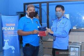 30 ribu masker dibagikan gratis untuk pelanggan PDAM HSS