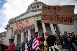 "Tolak ""di rumah saja"", 2.500 orang di Washington turun ke  jalan"