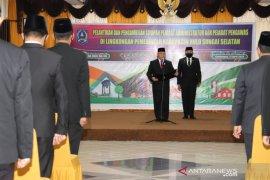 45 pejabat Pemkab HSS dilantik, berikut ini terlampir daftar lengkapnya