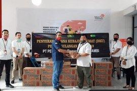 Pegadaian dan Askrindo serahkan bantuan penanganan COVID-19 melalui Satgas Bencana BUMN Jambi