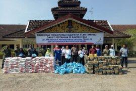 Pertamina Rantau salurkan bahan pokok 1.440 paket di wilayah operasi