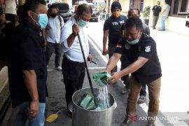 Polrestabes Medan musnahkan 15 kg sabu-sabu dari 4 tersangka