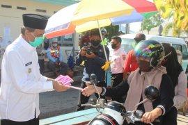 Pengunjung Pasar Senaken Tanah Grogot wajib gunakan masker