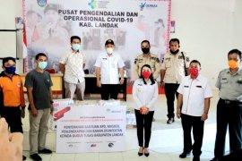 PT Antam dan anak perusahaan di Kalbar sumbangkan APD ke Landak