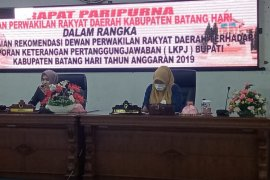 DPRD sampaikan rekomendasi LKPJ Bupati Batanghari TA 2020