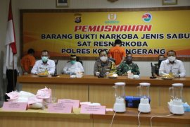 Polresta  Tangerang musnahkan sabu-sabu 11,172 kg dari 22 tersangka