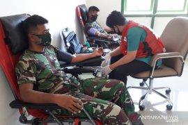 Kodim 1314 Gorontalo Utara gelar donor darah atasi dampak COVID-19