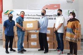 PTPN6 sumbang baju hazmat dan masker melalui Satgas Bencana BUMN Jambi