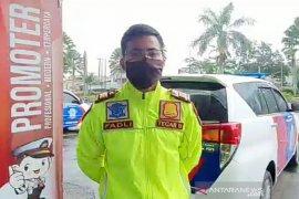 Polres Bogor cegah kendaraan mudik di perbatasan Cianjur-Sukabumi