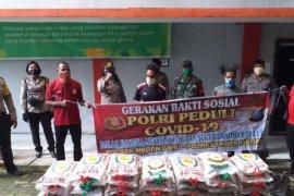 Polisi bantu sembako untuk mahasiswa Papua dan panti asuhan di Medan