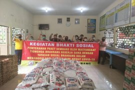 Yayasan Sosial Brahrang Binjai bagikan 1.500 paket sembako