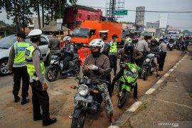 Pintu masuk ke Kota Medan disekat menyusul larangan mudik