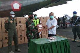 Distribusi Alkes dan APD dari pemerintah pusat ke Malut gunakan pesawat Hercules