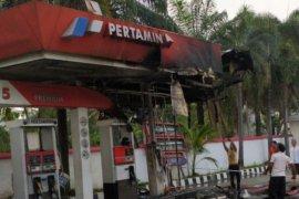 SPBU di Medan gosong dilalap api