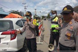 Wakapolresta Banjarmasin cek pos PSBB di hari ketiga