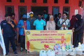 HIPMI Unihaz Bengkulu bagikan sembako untuk mahasiswa asal Papua