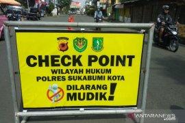 Kendaraan pemudik hendak masuk Sukabumi diminta putar balik