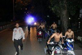 Satlantas Polres Banjarbaru amankan belasan motor balap liar