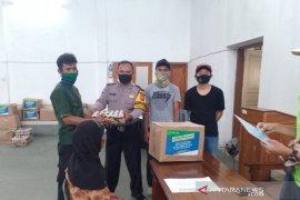 Polres Sumedang pantau pendistribusian bantuan pangan dari gubernur