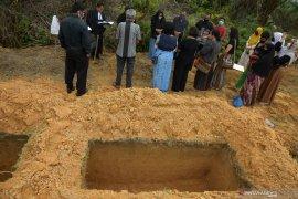 71 jenazah sudah dimakamkan dengan protokol COVID-19 di Pekanbaru, empat diantaranya positif