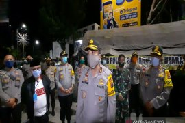 Kapolda pantau penerapan jam malam PSBB Banjarmasin