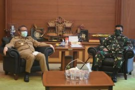 Danrem 121/Abw silahturahim pada Gubernur Kalbar bahas COVID-19