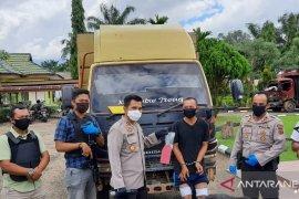 Petugas Polsek Jaluko tembak kaki tersangka pencuri truk