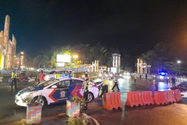 Polresta Pontianak mulai ujicoba pembatasan jalan cegah COVID-19