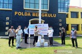 Satgas BUMN Bengkulu serahkan 900 masker untuk polisi