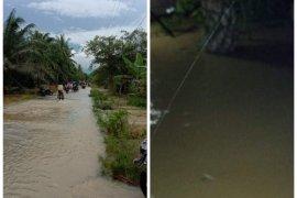 Kecamatan Tanjung Pura Langkat dilanda banjir setinggi satu meter