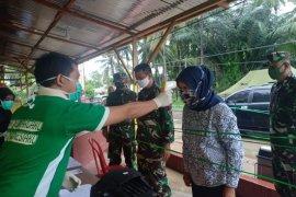 Foto - Danrem 133/Nani Wartabone yang baru jalani protokol kesehatan perbatasan Atinggola