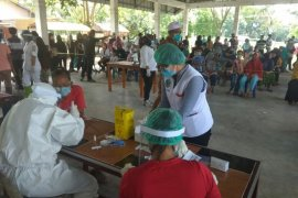 700-an warga dua desa di Simalungun rapid test, sembilan positif reaktif COVID-19
