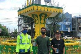 Polisi amankan pelajar yang coret Tugu Motivasi sela konvoi kelulusan