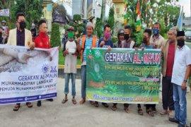 Pemuda Muhammadiyah Langkat bagikan satu ton beras dan 450 nasi kotak