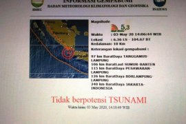 BMKG: Gempa di Selat Sunda tak berpotensi tsunami
